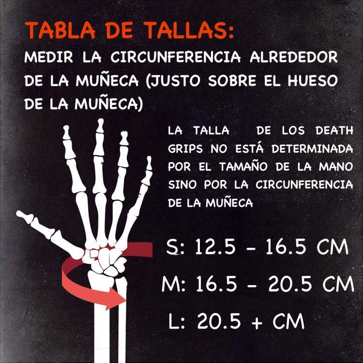 Tabla de tallas Death Grips