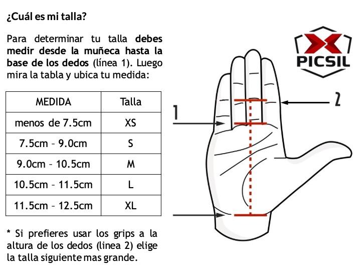 Tabla de tallas Grips Picsil